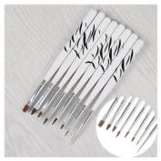 8Pcs/set Nail Art Brush Tools Set Crystal UV Gel Painting Dotting Brushes Pen Kits DIY Tools