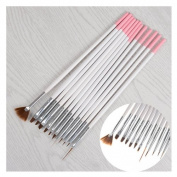 12Pcs/set Nail Art Brush Tools Set Crystal UV Gel Painting Dotting Brushes Pen Kits DIY Tools