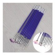 10Pcs/set Nail Art Brush Tools Set Crystal UV Gel Painting Dotting Brushes Pen Kits DIY Tools