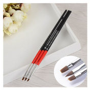 3Pcs/set UV Gel Crystal Brush Set Nail Art Pen Brush Salon Manicure Brush Tools