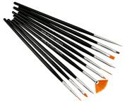 10pcs Acrylic Powder Nail Art Tips UV Gel Painting Dotting Design Brush Pen Q330