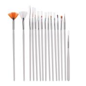 Daytingday 15pc Nail Art UV Gel Design Brush Set Painting Pen