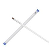 Fanshion gallery New 2x Pro White Handle UV Gel Brush Pen Nail Art Painting Drawing Brush Set Nail Tools Brushes