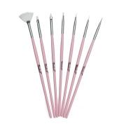 Twinkled T Bubble Yum Nail Art 7 Pc Brush Set