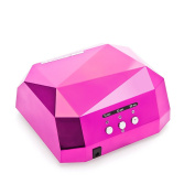 36W Nail Dryer Professional Diamond Shaped CCFL & LED UV Nail Lamp (UV & LED 2 in 1 Nail Gel Lamp), Curing Nail Dryer for LED UV Gel Nail Polish nail tools