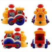 Wensltd Gift For Boys Girls Disassembly locomotive Design Educational toys