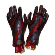 Wensltd Halloween Horror Props Bloody Hand Foot Party Decoration