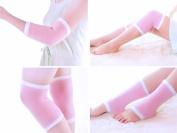 webueat Gel Moisturising Sock / Sleeve / Gloves for Elbow / Knee / Heel - Multifunctional Skin Repair Whitening, Pink