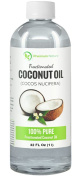 Fractionated Coconut Oil 950ml Skin Moisturiser, Natural Carrier Oil Therapeutic, Odourless, By Premium Nature