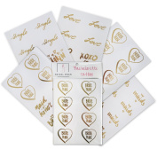 Bachelorette Party Tattoos by Bridal Swan- Mixed Set of 40 Gold Metallic Flash Tattoos- Bride Tribe Edition