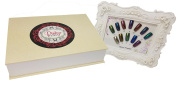 Pinky Petals Chrome Mirror Nail Powder Kit with 12 Colours, Applicators, and Colour Chart