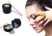 Chrome Mirror Nail Powder with Smooth Shimmer Shining Glitter Effect Pigment for Nail Art by Pinky Petals