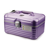 HOYOFO Train Cases Makeup Organiser Lockable Cosmetic Case Make Up Suitcase