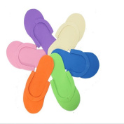 fancasen 12 Pairs Disposable Foam Pedicure Travel Slippers Flip Flop Foot Spa
