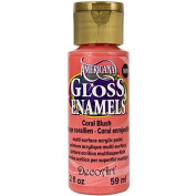 DecoArt Americana Gloss Enamel Paint, 60ml, Coral Blush