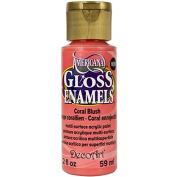 DecoArt Americana Gloss Enamel Paint, 60ml, Coral Blush