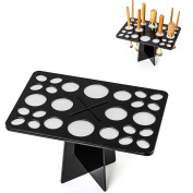 Matto Collapsible Air Drying Makeup Brushes Tree Tower Rack - 26 Holes Mix Size Makeup Brush Tree Holder Organising Cosmetic Tool Holder