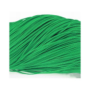 Continuous Length 10m x Green Waxed Polyester 1mm Thong Cord - (Y06350) - Charming Beads