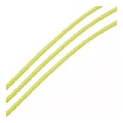 Continuous Length 3m x Yellow Cotton 1mm Thong Cord - (Y06940) - Charming Beads