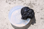 Lucky China Elephant Pendant Amulet Clear Silicone Mould. Size 48x45 mm.