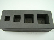 High Density Graphite Mould 1-2-5-300ml Gold Bar Silver 4-Cavity Cube