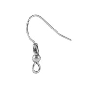 Silver Overlay Earwire FSF-138-25MM