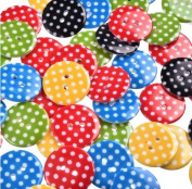 50Pcs/Lot Mixed Dot 2 Holes Resin Sewing Buttons Scrapbooking 23mm Dia Knopf Bouton