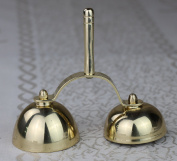 12cm H Church Altar Brass Bell Unique Design LD-2A3