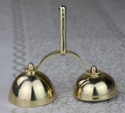 12cm H Church Altar Brass Bell Unique Design LD-2A3