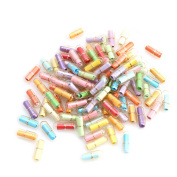 Wrisky Lot Message in a Bottle Message Capsule Cute Letter Love Pill Full Clear Colour