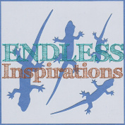 Endless Inspirations Original Stencil, 15cm x 15cm , Lizard 1