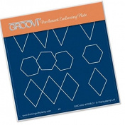 Groovi Alphabet Essentials Bixes and Bunting A6 Plate - Laser Etched Acrylic for Parchment Craft