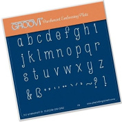 Groovi Lowercase Letters A6 Plate - Laser Etched Acrylic for Parchment Craft
