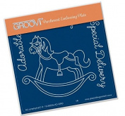 Groovi Rocking Horse A6 Plate - Laser Etched Acrylic for Parchment Craft