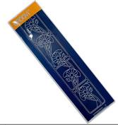 Groovi Poppies Art Nouveau Border Plate - Laser Etched Acrylic for Parchment Craft