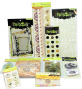 Pink Paislee Phantom Halloween Scrapbook Lot Set Alphabet Stickers Hocus Pocus