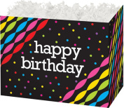 "Birthday Streamers Gift Basket Box - ""BOXCO""- Large 26cm x 15cm x 7 1/2"