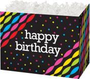 "Birthday Streamers Gift Basket Box - ""BOXCO""- Large 26cm x 15cm x 7 1/2"