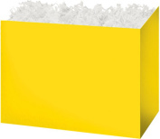 "Yellow Solid Colour Gift Basket Box - ""BOXCO""- Large 26cm x 15cm x 7 1/2"
