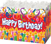 "Birthday Candles Gift Basket Box - ""BOXCO""- Large 26cm x 15cm x 7 1/2"