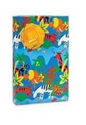 Jungle Down Animals Monkey Giraffee Zebra Elephant Gift Wrap Paper - 5.5m Roll