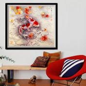 MEXUD-DIY 5D Two Fish Embroidery Diamond Painting Cross Stitch Kits Home Wall Decor