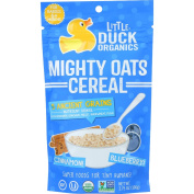 Little Duck Organics Cereal - Organic - Mighty Oats - Blueberry and Cinnamon - Age 6 Months Plus - 110ml - case of 6