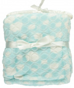 "Nannette ""Embossed Plush"" Baby Blanket - blue, one size"