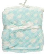 "Nannette ""Embossed Plush"" Baby Blanket - blue, one size"