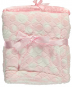 "Nannette ""Embossed Plush"" Baby Blanket - pink, one size"
