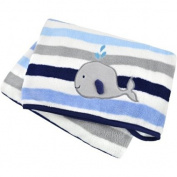 Boating Buddies Printed 100% Soft Polyester Fleece Blanket, Blue, 80cm x 100cm