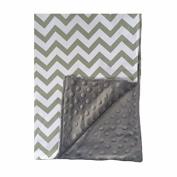 BayB Brand Blanket - Grey Chevron and Grey