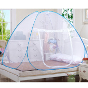 Mongolia Nets, Foldable Portable Free Installation Universal Child Adult Single Door Nets Suitable for Family Bedroom Decoration,Polyester + stainless steel wire