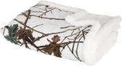 Trail Crest Baby Camo Soft Sherpa Blanket W/ Magnet, Snow Camo